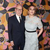 Patrick Stewarts FrauSunny Ozell zeigt sich bei der Party von HBO in hellgrauer Spitze.