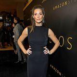 Schlichte Eleganz in Schwarz: So besucht Ashley Greene die Party von Amazon Studios.