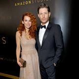 Der nudefarbene Abendlook steht der rotlockigenDanneel Ackles hervorragend. Ehemann Jensen sieht das sicher ganz genau so.