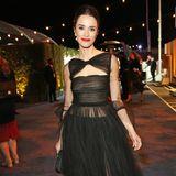Abigail Spencer bezaubert bei der Golden-Globe-Party im schwarzen Tüll-Dress.