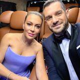Auch Schauspielerin Alyssa Milano undEhemann David Bugliari freuen sich auf ihr Date bei den Golden Globes.