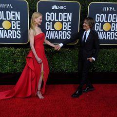 Nicole Kidman und Gatte Keith Urban sind alte Hasen auf den roten Teppichen dieser Welt – da sitzen die dramatischen Posen natürlich perfekt.