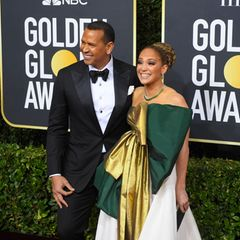 Die Zwei strahlen noch immer wie frisch verliebt: Alex Rodriguez und Jennifer Lopez.