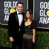 Premiere: Bei den Golden Globes zeigen sich Rachel Bilson und Bill Hader erstmals als Paar.