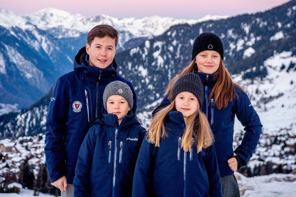 v.li.: Prinz Christian, Prinz Vincent, Prinzessin Josephine, Prinzessin Isabella
