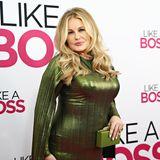 """Unfassbar, seit20 Jahren kann die 58 jährige Schauspielerin schonihr jugendliches Aussehenhalten. Pünktlich zum neuen Jahr zeigt sie sich 2020 bei der """"Like a Boss"""" Premiere so schön wie eh und je. Interessant zu sehen, auch bei dieser Filmpremiere setzt sie auf eingrünes Metallic-Kleid."""
