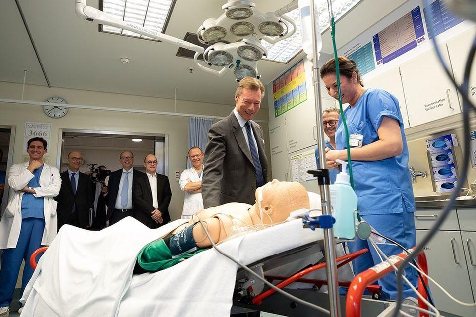Grossherzog Jean: offizieller Besuch im Krankenhaus