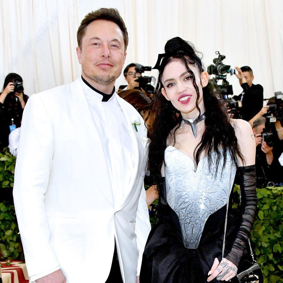 Elon Musk und Musikerin Grimes