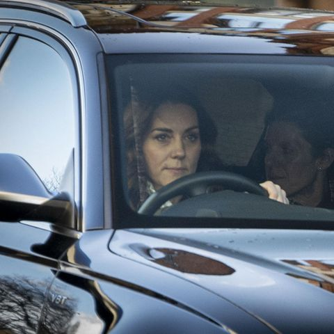 Herzogin Catherine kommtam 9. Januar 2019 am Buckingham Palast an.