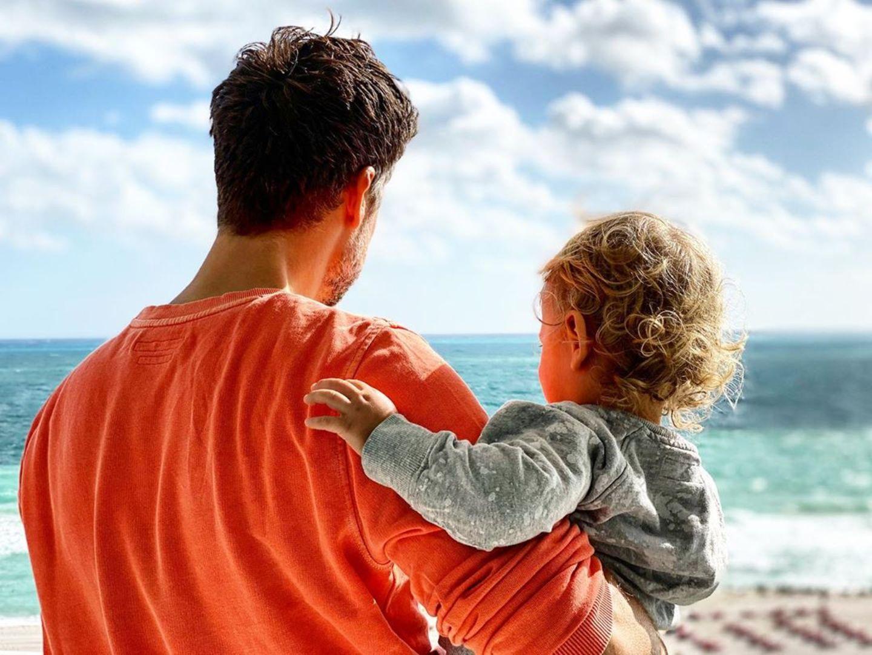 Wayne Carpendale in Miami Beach mit Sohn Mads