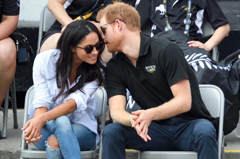 Bei den Invictus Games 2017 in Toronto zeigen sich Meghan und Harry erstmals als Paar.