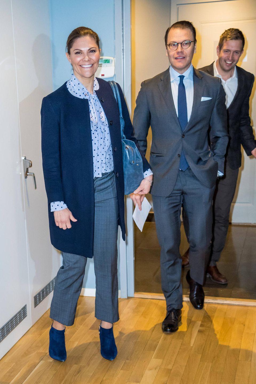 Kronprinzessin Victoria und Prinz Daniel bei einem Firmenbesuch