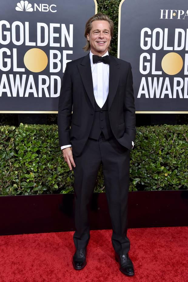 Brad Pitt im Tuxedo bei den Golden Globes