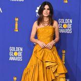 Sandra Bullock in Oscar de la Renta Kleid, Golden Globes