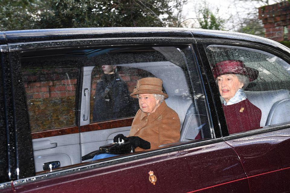 Die Queen nach dem Besuch des Gottesdienstes.