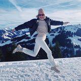 Lena Gercke im Schnee