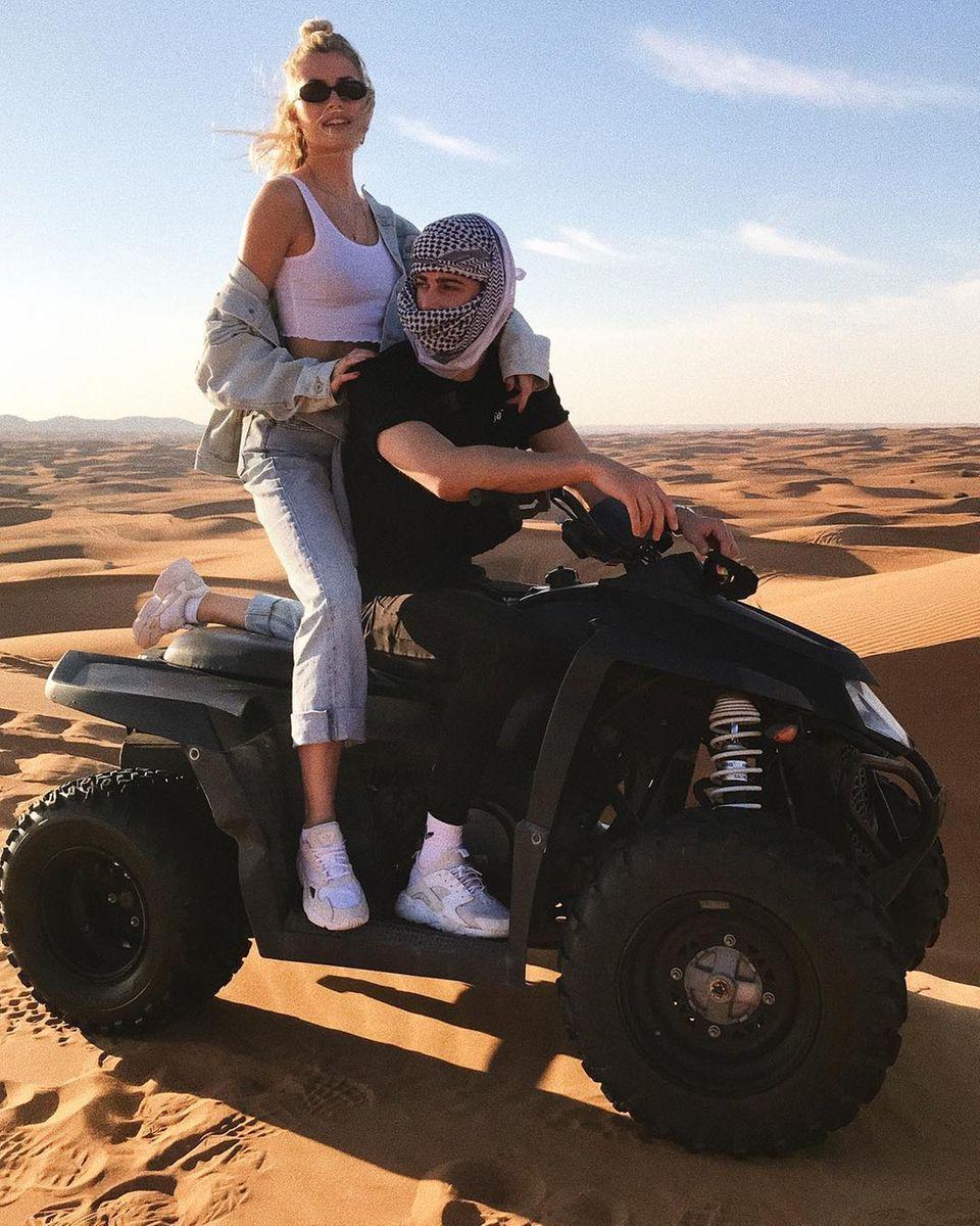 Lena Gercke + Dustin Schöne in der Wüste