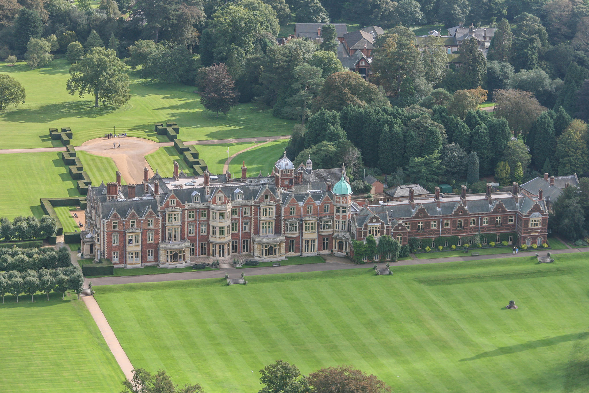 Sandringham House ist der private Landsitz von Queen Elizabeth und liegt etwa 180 Autokilometer nordöstlich von London.