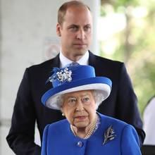 Queen Elizabeth und Prinz William