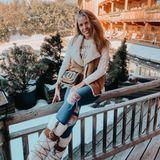 Victoria Swarovski im winterlichen Kitzbühel