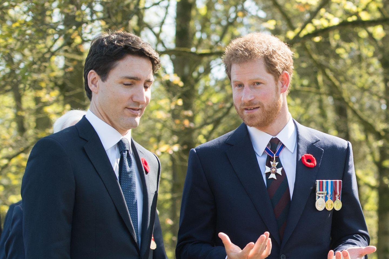 Justin Trudeau und Prinz Harry