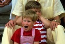 Prinz Harry, Prinz William und Lady Diana 1987
