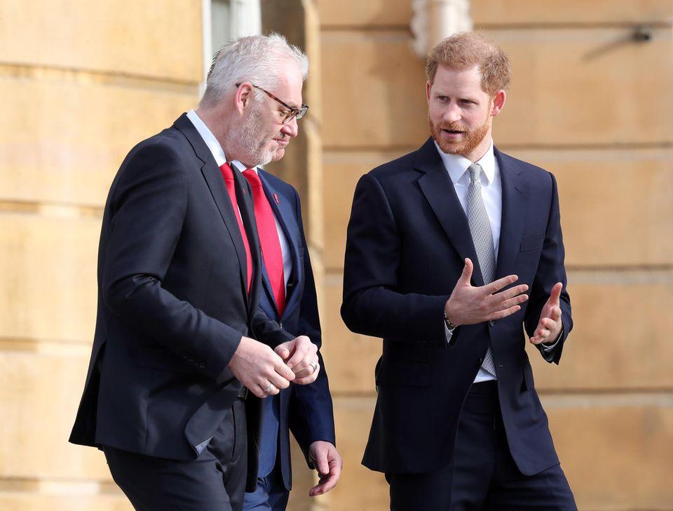 Prinz Harry am 16. Januar 2020 im Buckingham Palast.
