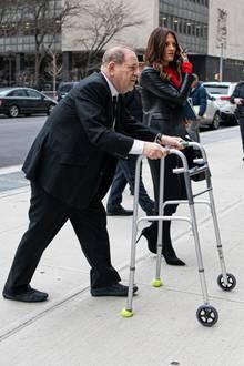 Harvey Weinstein auf dem Weg zu seinem Prozess