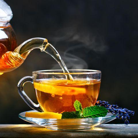 Tee und Teeglas