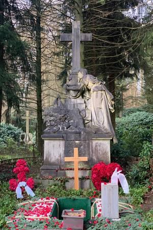 Jan Fedders Grab auf dem Friedhof Ohlsdorf
