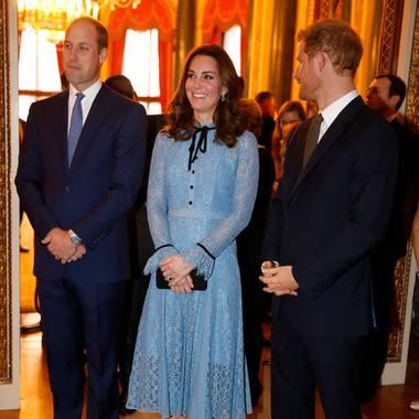 Prinz William, Herzogin Catherine und Prinz Harry, hier bei einem Termin im Oktober 2017.