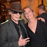 Udo Lindenberg und Maria Furtwängler freuen sich, sich mal wieder zu sehen.