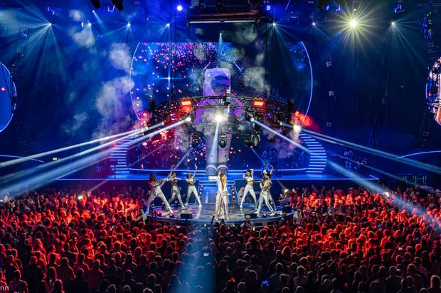 Tolle Bühnen-Show: Beim Andrea-Berg-Konzert gab's nicht nur etwas auf die Ohren, sondern auch was für's Augen.