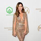 Eine Augenweide in Gold und Glitzer: Kate Beckinsale hat sich für einHosen-Dress von Zuhair Murad entschieden.