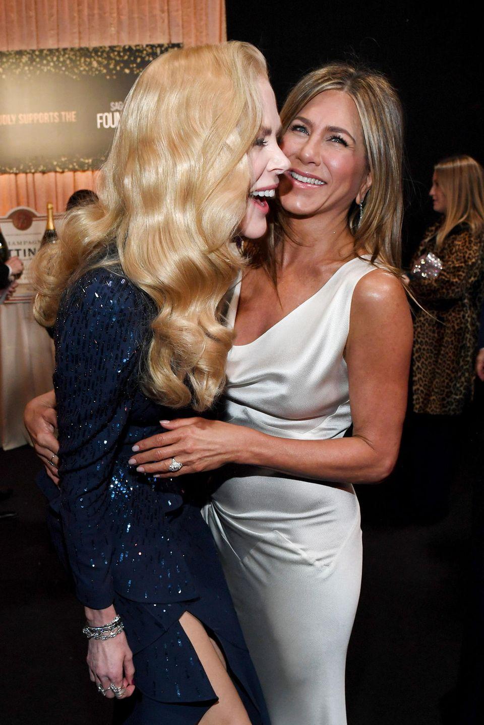 Was für ein Duo! Hollywood-Stars Nicole Kidman und Jennifer Aniston sind auf und abseits der Leinwand guteFreundinnen.