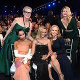 """SAG Awards 2020: Hollywood-Stars Meryl Streep, Zoë Kravitz, Reese Witherspoon, Nicole Kidman und Laura Dern repräsentieren die nominierte Erfolgs-Serie """"Big Little Lies"""" bei den SAG Awards."""