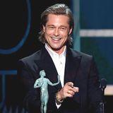"""SAG Awards 2020: Brad Pitt erhält für seine Rolle in """"Once Upon in Hollywood"""" eine Auszeichnung als bester Nebendarsteller."""