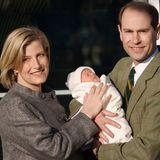 Sophie,Gräfin von Wessex und Prinz Edward mit ihrem Sohn James