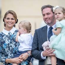 Prinzessin Madeleine mit ihrem Mann Christopher O'Neill und ihren Kindern Prinz Nicolas und Prinzessin Leonore