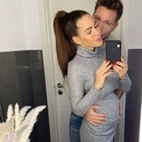Angelina Heger + Sebastian Pannek zeigen Babybauch