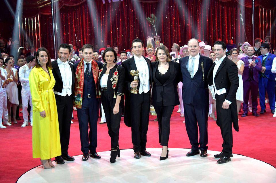 Fürstenfamilie beim Zirkusfestival in Monte Carlo