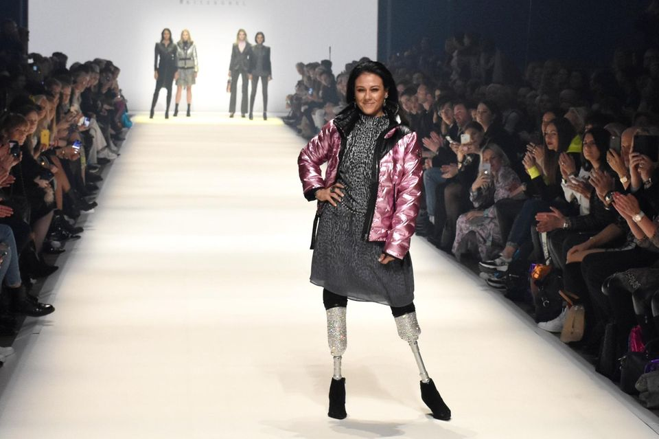 Giusy Versacebei der Fashion Week
