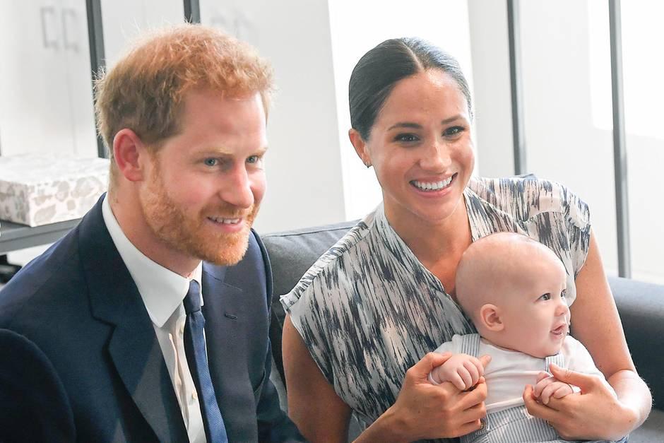 Prinz Harry, Herzogin Meghan und Archie Harrison Mountbatten-Windsor
