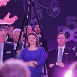23. Januar 2020  Im European Convention Centerin Luxemburg verfolgen die beiden werdenden Eltern konzentriert eine Tanzperformance.