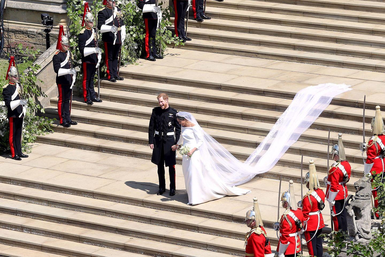Prinz Harry und Herzogin Meghan am Tag ihrer Hochzeit.