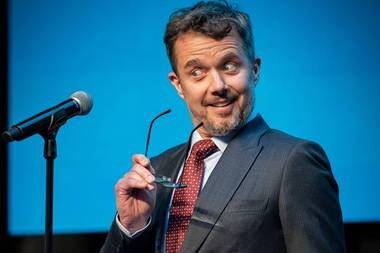 Kronprinz Frederik redet bei der Unternehmerpreis-Verleihung