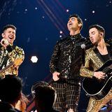 Brüderlich: Nick, Joe und Kevin Jonas geben auf der Grammy-Bühne alles.