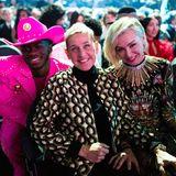 Drei glückliche Gesichter bei den Grammys:Lil Nas X, Ellen DeGeneres und Portia de Rossi