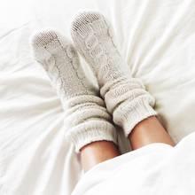 Warme Füße, Wollsocken, Schlafengehen