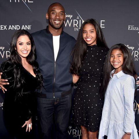 Vanessa und Kobe Bryant mit ihren Töchtern Natalia und Gianna Bryant